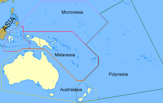 South Pacific Regions of Oceania